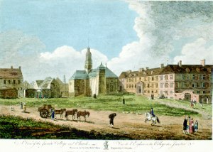 Jesuit college and church, Quebec City, 1761 (Nat. Archive of Cda)