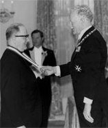 Receiving the Order of Canada