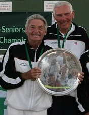 Lorne with doubles partner Ken Siclair