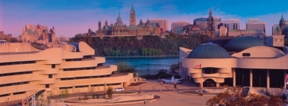 Museum of Civilization facing Parliament Hill